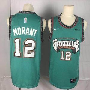 Memphis Grizzlies 12 Ja Morant Jersey Green